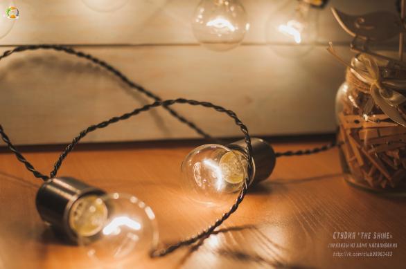 ретро гирлянда с лампами накаливания своими руками транзакционных
